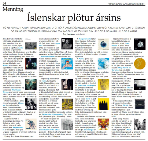 Morgunbladid picks 'RF' as one of the best releases of 2014.